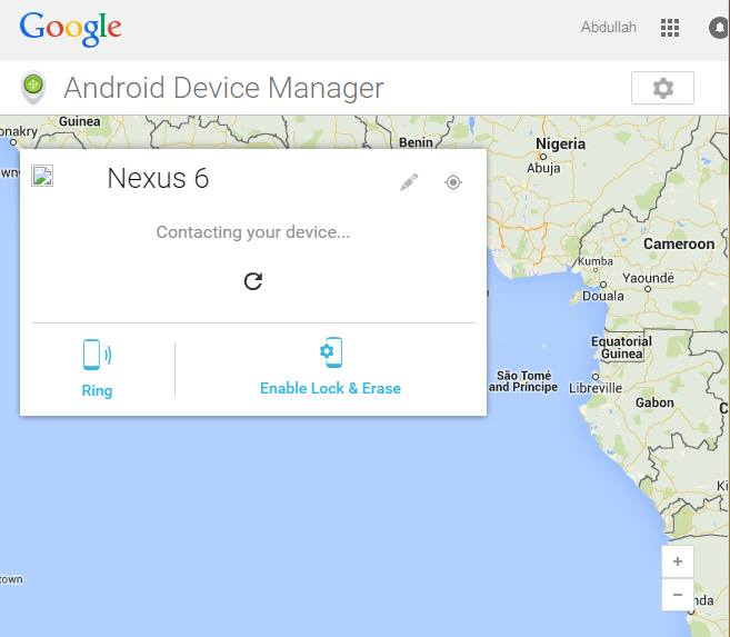 Locate and ring Lost Nexus 6