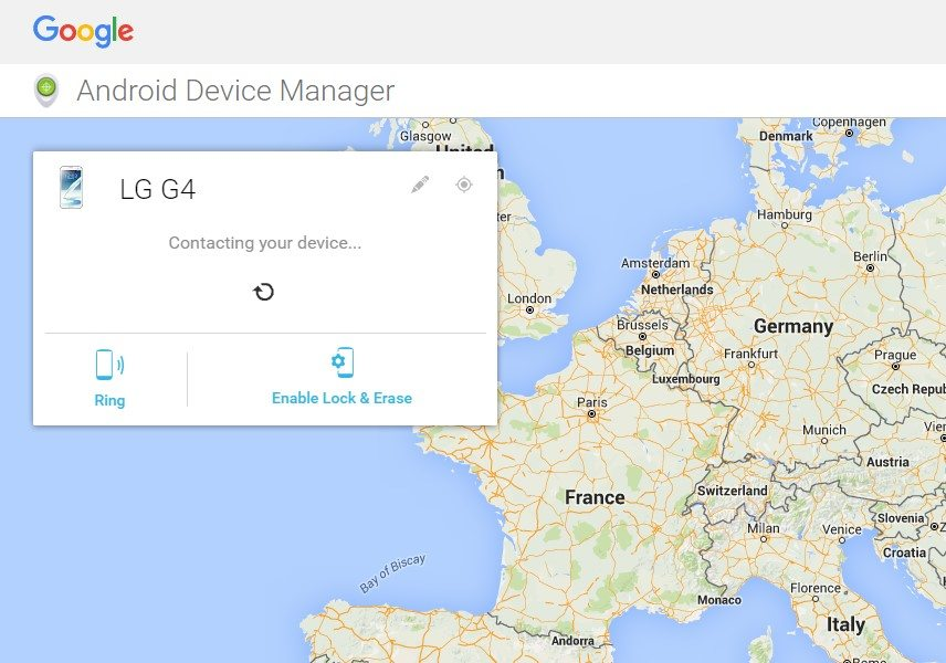 Ring locate lost Lg g4