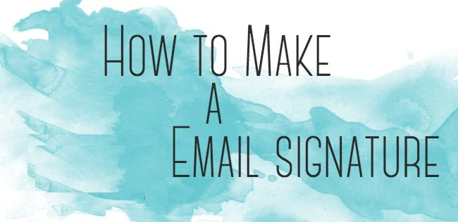 how to create a custom gmail signature