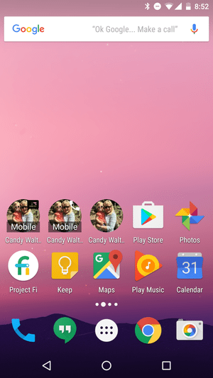 add contact to android homescreen