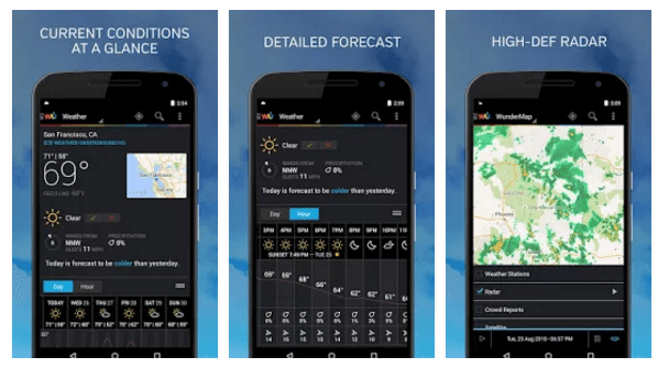Top 5 Weather Apps for Android Phone